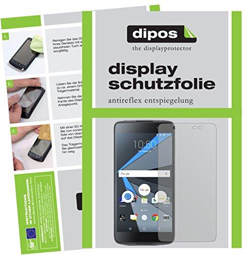 dipos I 2X Schutzfolie matt passend für BlackBerry DTEK50 Folie Bildschirmschutzfolie