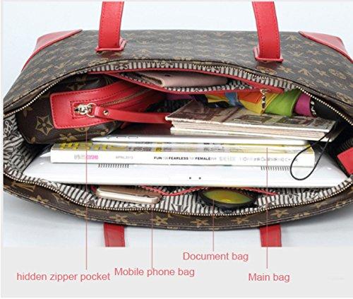 PDFGO Taschen Alte Blumen Handtaschen Messenger Bag Leder Umhängetasche Druck Sub-Paket Tote Bag A
