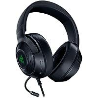 Razer Kraken X USB Gaming Headset, Cuffie Da Gioco Con Audio Surround Digitale 7.1, Microfono Cardiode Pieghevole…