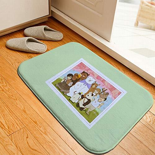 S&RL Flanellmatte Panda Saugfähige Rutschfeste Schlafzimmer Comic-Matte, Foto, 50 * 80cm (19.7 * 31.5inch) -