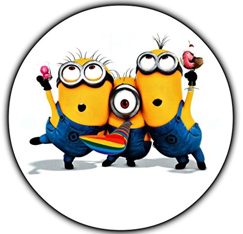 Minions Round Despicable Me Edible Image Photo Cake Topper Sheet Personalized Custom Customized Birthday Party - 8 Round - 75379 by Sweet Custom Cakes