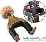 Guitar Wall Hanger,Loietnt Guitar Hanger Auto Lock Hook Holder Wall Mount Bracket for Home Studio Guitar,Bass,Multiple Musical Instruments (1 Pack)