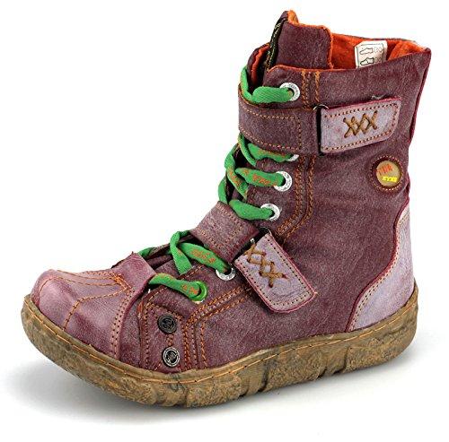 TMA Damen Winter Stiefeletten Boots Gefüttert Schuhe 7087 Rot idjyDdt