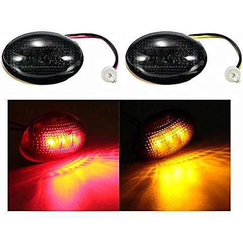 Pink Lizard LED Lato fumi parafango doppiamente letto luce indicatore ambra rossa per Ford F350 1999-2010