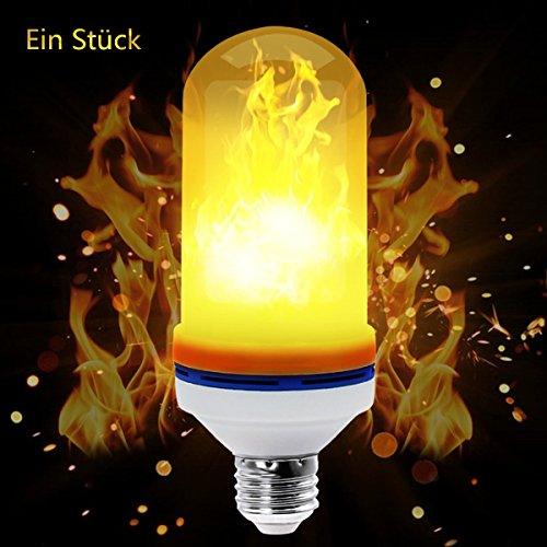 Flamme Lampe, Led Glühbirne Flackerlicht E27 Flimmer Feuer Birne 1500K Leuchtmittel LED Bulb Dekorative Leuchte für Hause, Garten, Bar, Party, Hochzeit,Weihnachten Dekoration