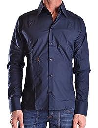 Dirk Bikkembergs Hombre MCBI097008O Azul Algodon Camisa