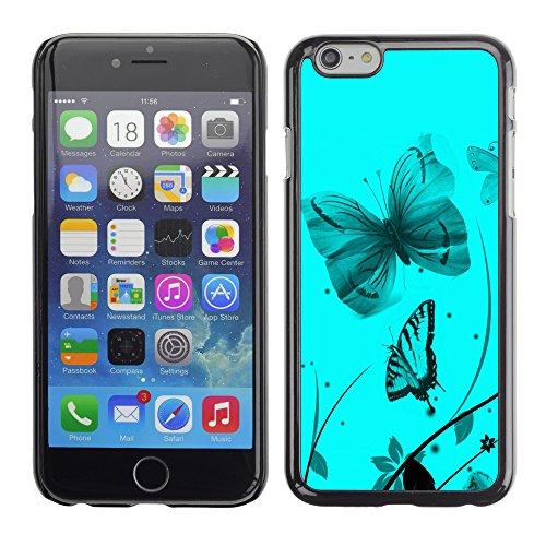 Graphic4You Bunt Schmetterling Schmetterlinge Muster Design Harte Hülle Case Tasche Schutzhülle für Apple iPhone 6 / 6S Design #9
