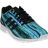 adidas Originals Men's ZX Flux Fashion Sneaker, White/White/Neon Pink, 6 M US
