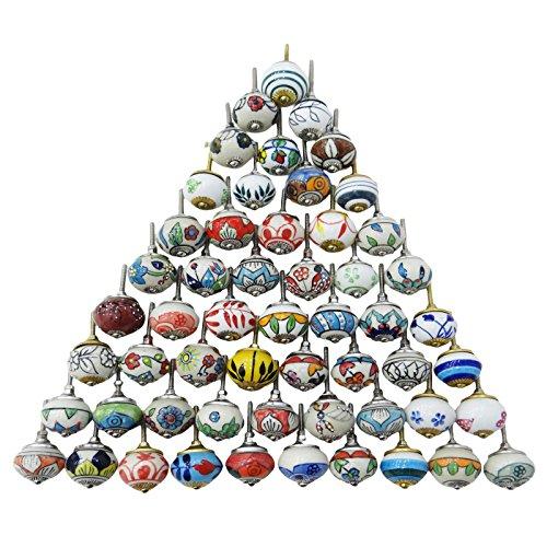 assortiti-multicolore-in-ceramica-cassetti-pomelli-anta-pulls-mix-indiano-manopole-ceramica-multi-sa
