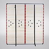 i-flair® - Lattenrost 160x200 cm, Lattenrahmen - für alle Matratzen geeignet - Farbe: Grau-Rot