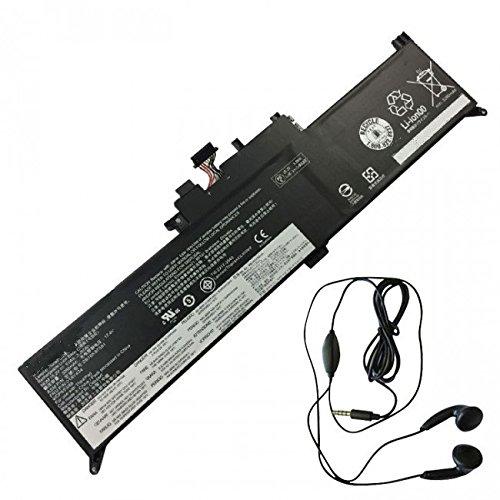 amsahr LEN01AV434-03 Ersatz Batterie für Lenovo 01AV434, Lenovo Yoga 12 X260 Series (15.2V, 3.355Ah, 51Wh, Umfassen Stereo Ohrhörer) schwarz