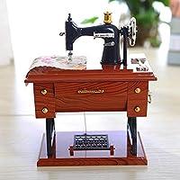 YTYRTIK Caja de música Vintage Estilo de máquina de Coser Mini Decoración de Mesa de Regalo