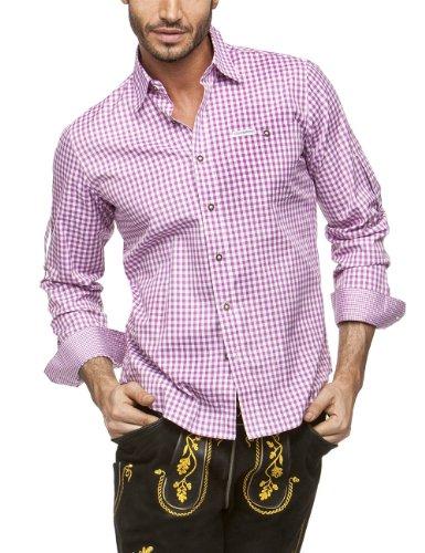 Stockerpoint Herren Regular Fit Trachtenhemd Campos2, Gr. X-Large, Violett (beere)