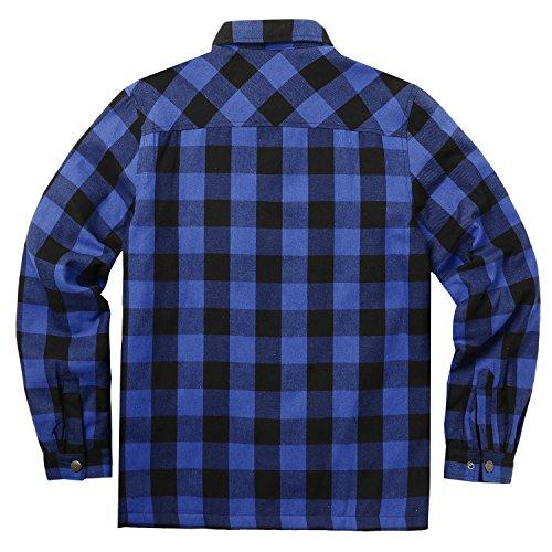 COOFANDY Hemd Herren Kariert innenfutter Winter Holzfällerhemd Thermohemd Hemdjacke Winterjacke Mantel Blau