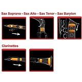 Saxmute dämpfersystem pour saxophone soprano avec 2 bocaux