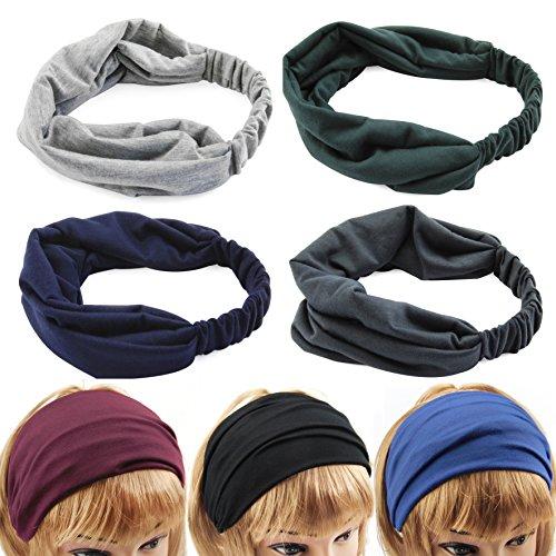 axy HB4 Haarband Yoga Headband Hairband (Schwarz)
