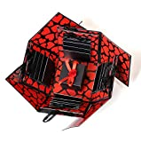 #7: Crafted with Passion red and Black Explosion Box for Birthday Explosion Box for Anniversary DIY Photo Album
