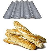 Bandeja para hornear pan para 4 barras - Antiadherente - Bandeja perforada para pan - ¡Reversible para hacer galletas y tortas!