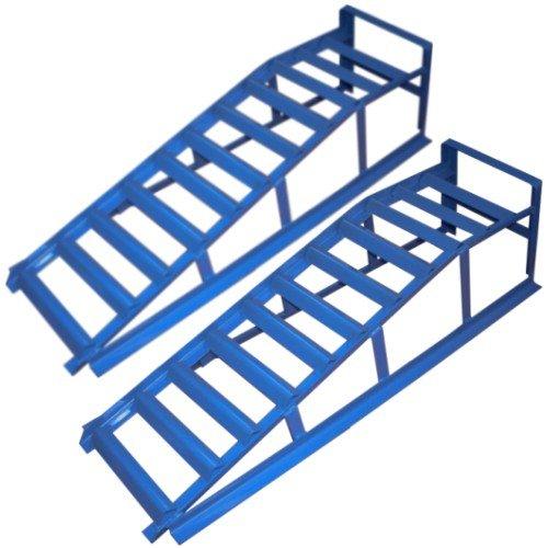 2x Torrex 30025 Auffahrrampe blau 225mm / 2 Tonnen TÜV/GS geprüft