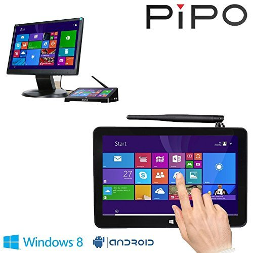 Pipo X8 Mini Pc Windows8.1 Android4.4 Dual Boot Intel Atom Z3736f Quad Core Mini Computer Box 7 tablet Hdmi 2g 32g 802.11b g n LAN Bt4.0 USB 2.0 X 4