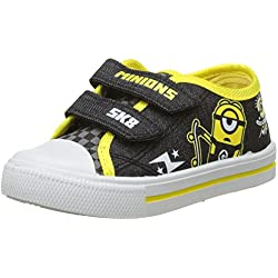 Minions Despicable Me Boys Kids Low Sneakers, Zapatillas de Deporte para Niños, Negro (Black/Yellow), 30 EU