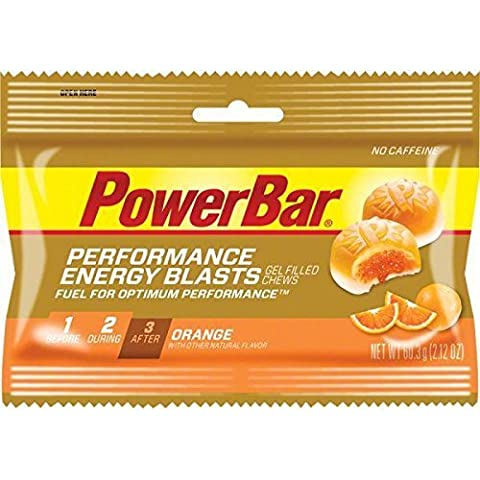 Power Bar Energy Blasts Gel-Filled Chews, Orange-2.12 ounces, 12ct by