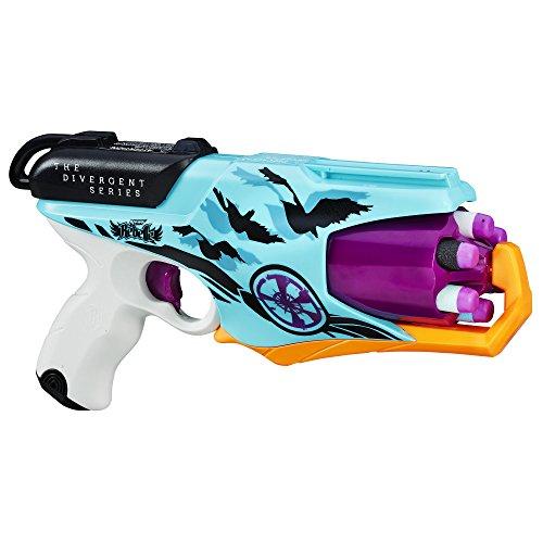 Nerf Rebelle Hasbro – B6604 Divergent Series – Allegiant – Spielzeugblaster mit 6 x Darts und Schnellfeuer-Funktion