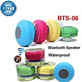 #7: Captcha Water Proof Bluetooth Shower Speaker With Mic Wireless Portable Stereo - Best for Bath, Pool, Car, Beach, Indoor/Outdoor Use (Multi colors ) Suitable with all Android or Iphone Devices (1 Year Warranty, Color May Vary)
