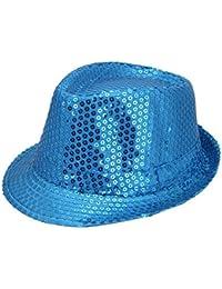 JTC Women Men Glitter Sequins Fedora Trilby Hat Party Jazz Cap