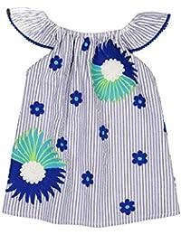 9cc28f3b40e73 Masala Baby Baby Girls Magical Flutter Dress Stripe Blue