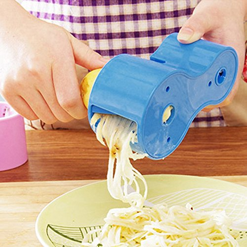 joygood Microplane Spiralschneider Veggie Curler Gemüse Zucchini Nudeln Maker mit Messerschärfer blau