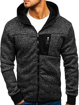 BOLF Herren Kapuzenpullover Hoodie Sweatshirt Sweatjacke Outdoor Style 1A1