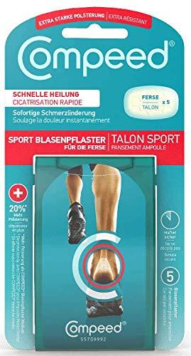 Compeed Sport Blasenpflaster für die Ferse, 6,8 x 4,2 cm, 1er Pack (1 x 5 Stück)