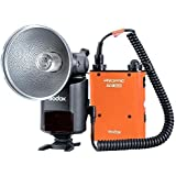 GODOX Witstro Juego Paquete Kit Set de batería de litio PB960 (11.1V / 4500mAh) para Canon y Speedlite Externo portátil Flash con zapata AD-360 360W GN80 para Canon Nikon cámara