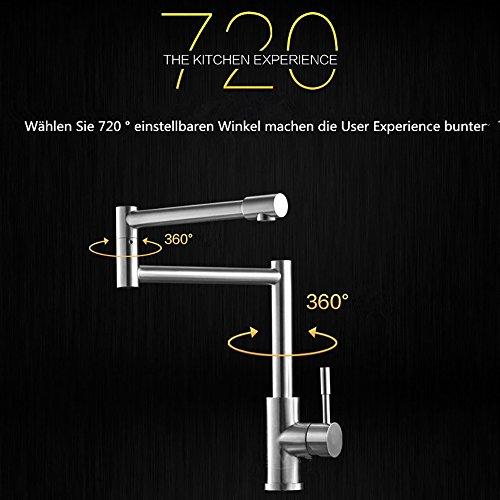 Homelody – 720° drehbare Küchenarmatur aus Edelstahl - 2