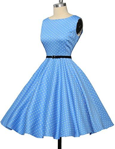 1950er retro kleid audrey hepburn kleid polka dots rockabilly kleid vintage kleid Größe XS CL6086-1 - 5