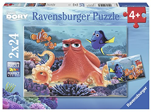 Ravensburger 09103 - Finding Dory Puzzle, 2 x 24 Teile