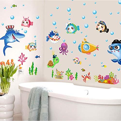Kleine Aufkleber Marine Fish Kreative Schlafzimmer Dekoration Kindergarten Klassenzimmer Thema Aufkleber Standardcode AA4 (Klassenzimmer Thema Dekoration)