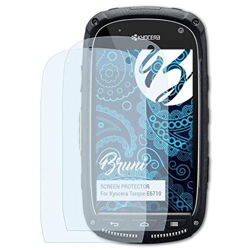 Bruni Schutzfolie kompatibel mit Kyocera Torque E6710 Folie, glasklare Bildschirmschutzfolie (2X)