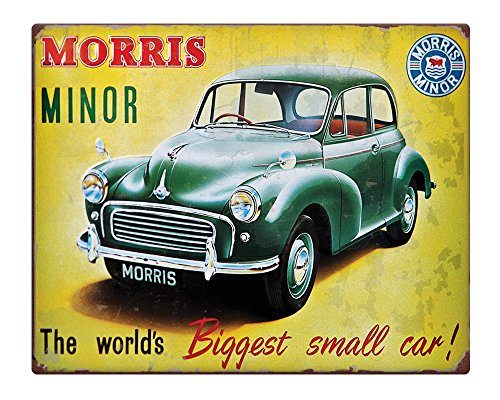 Morris Minor Rusty Effect  Metal Sign.