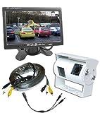 Wohnmobil Doppel Rückfahrkamera hintere Ansicht Kit mit Armaturenbrett-monitor (Weiß-Kamera)