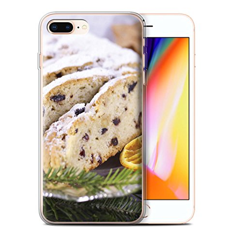 Stuff4 Gel TPU Hülle / Case für Apple iPhone 8 Plus / Kekse/Plätzchen Muster / Weihnachten Essen Kollektion Obstkuchen