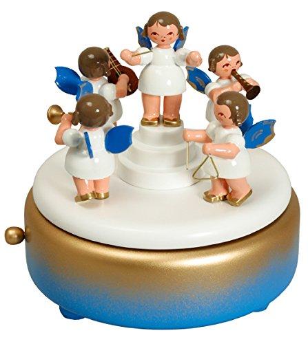 Di Music Box - di Music Box di angelo blu 13.5 cm NUOVO