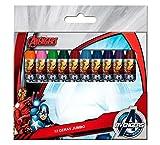 Les Vengeurs Marvel Boîte de 12crayons de couleurs jumbo