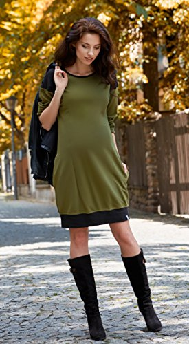 Be! Mama - 2in1 Umstandskleid, Stillkleid, Tunika. Modell: SPORTISSIMA, FARBAUSWAHL Khaki