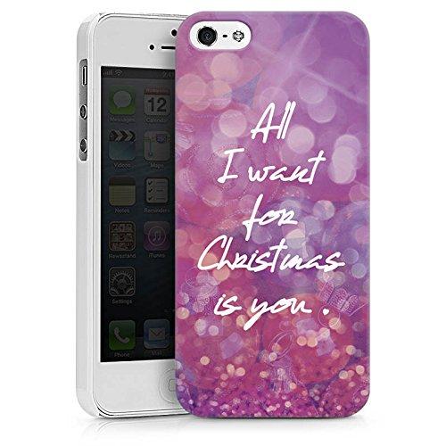 Apple iPhone X Silikon Hülle Case Schutzhülle Weihnachten Liebe Mariah Hard Case weiß