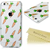 iPhone 6 Plus / 6s Plus Funda Transparente Gel TPU Case Ultra Slim Suave - Mavis's Diary Carcasa Bumper Flexible Resistente a los Arañazos Diseño de zanahoria