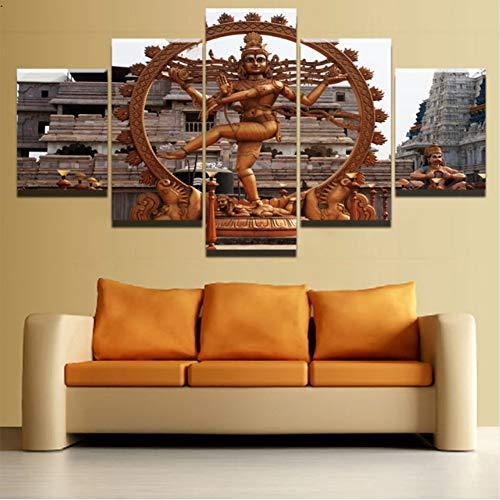 jasonding Kein Rahmen Wandkunst Leinwandbilder Home Dekorative5 Stücke Hinduismus Shiva Gemälde Hd Gedruckt Poster