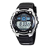 d7c449a345c1 Casio Men s AE2000W-1AV Black Resin Quartz Watch with Digital Dial