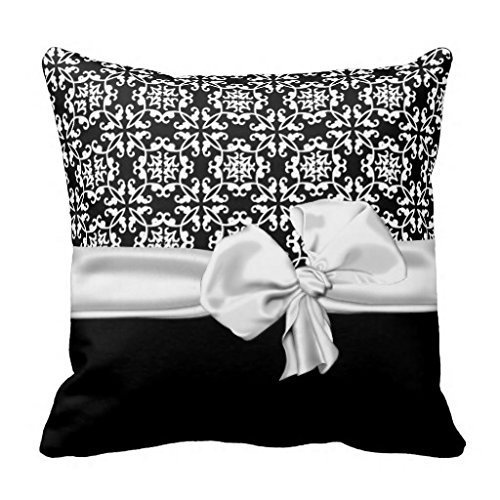 Xukmefat Stylish Black and White Decorator Pillow Sham for Sofa Throw Pillow Covers Decorative Outdoor Cushion Covers Canvas Accent Pillow Cases 18x18 -